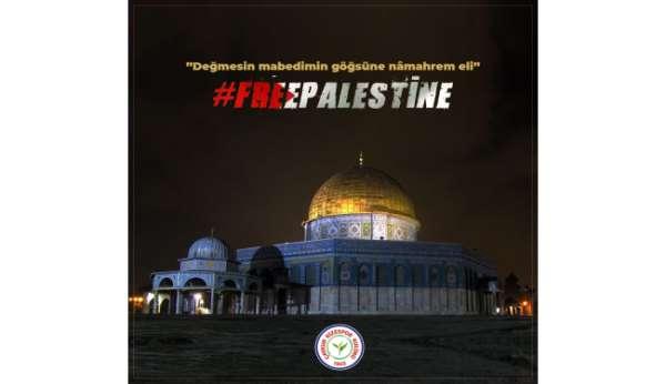 Çaykur Rizespordan Filistine destek mesajı