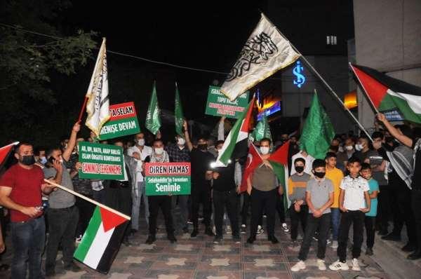 Cizrede İsrailin Mescid-i Aksaya saldırıları protesto edildi