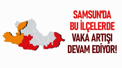 Samsun'da bu ilçelerde vaka artışı devam ediyor!