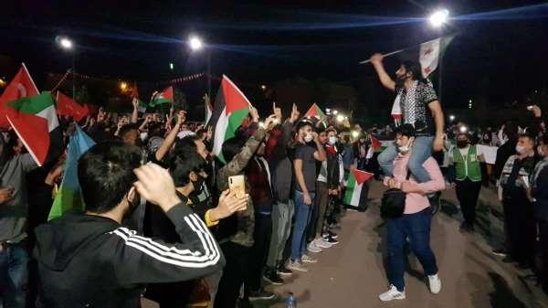 İsrailin Mescid-i Aksa saldırıları Karabükte protesto edildi
