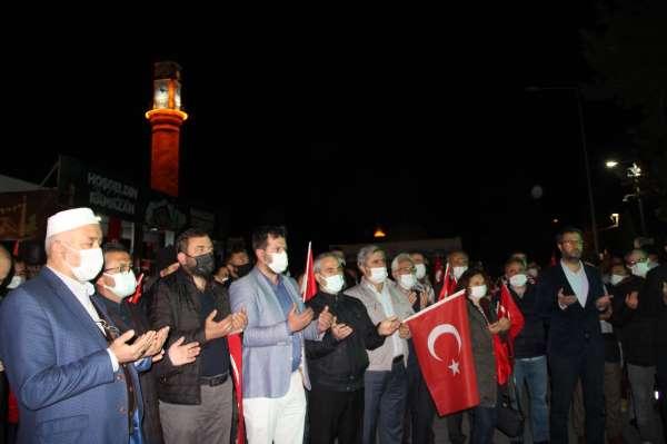 İsrailin Mescid-i Aksaya yönelik saldırısı Çorumda protesto edildi