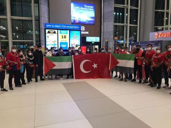 Milli atıcılardan Filistine destek