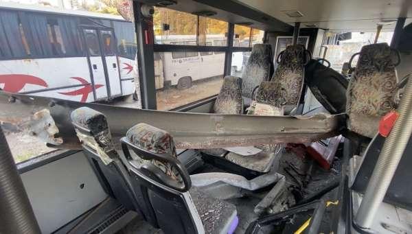 Beşiktaşta feci kazanın yaşandığı otobüs akıbetini bekliyor