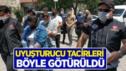 Samsun'da uyuşturucu tacirleri böyle götürüldü