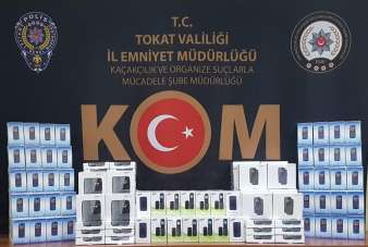 Tokat'ta kaçak sigara imalathanesi ile cep telefonu operasyonu