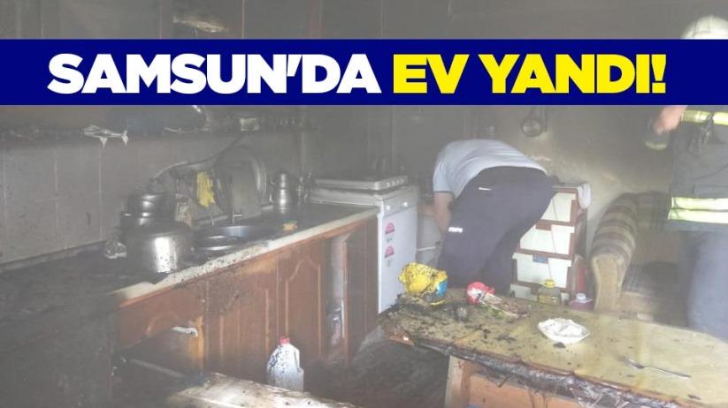 Samsunda ev yandı!