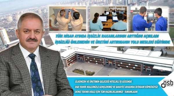 Başkan Nursaçan: İşsizliği önlemenin yolu mesleki eğitimde