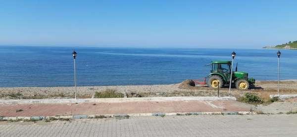 Güzelkentte sahil düzenleme çalışmaları