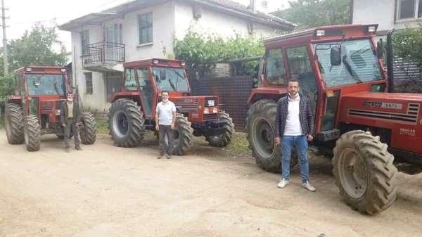 Hisarcıkta ORKÖY desteğiyle 6 orman köylüsü traktörlerine kavuştu
