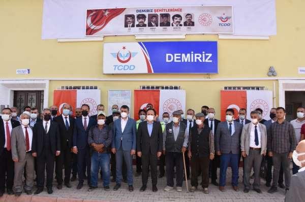 Terör örgütü PKKnın şehit ettiği 6 TCDD personeli ile 2 sivil vatandaş anıldı