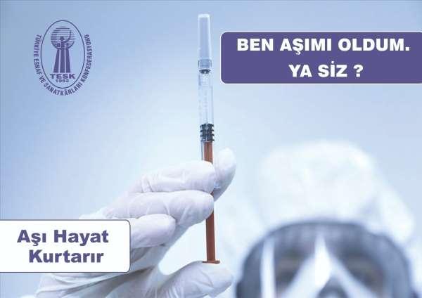 TESKten aşı için farkındalık kampanyası