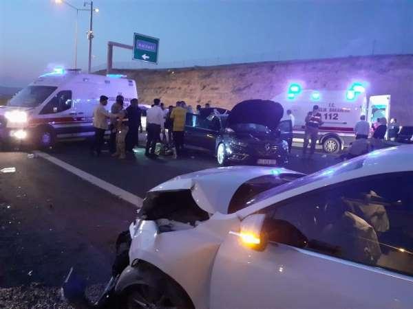 Şanlıurfada trafik kazası : 8 yaralı