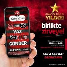 24Erzincanspora SMS ile destek