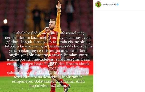 Celil Yüksel'den Galatasaray'a veda