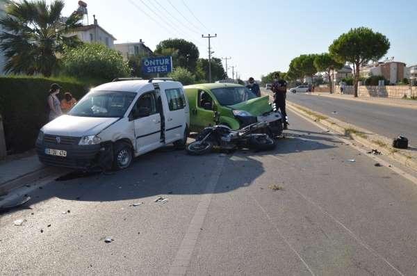 Didim'de trafik kazası: 1 ağır, 4 yaralı