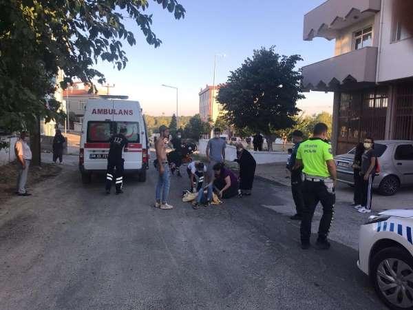 Malkara'da motosiklet kazası: 2 yaralı