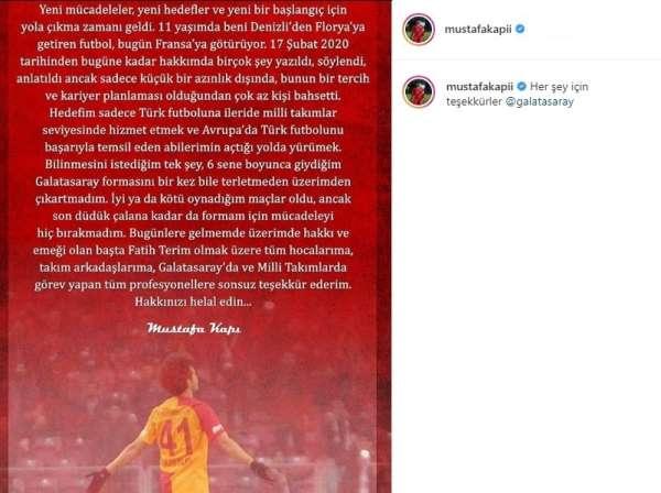 Mustafa Kapıdan Galatasaraya veda