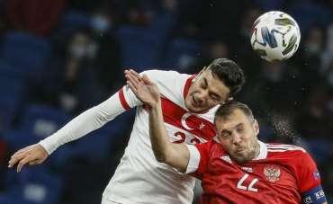 UEFA Uluslar B Ligi: Rusya: 1 - Türkiye: 0 (İlk yarı)