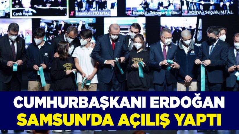 Cumhurbaşkanı Erdoğan, Samsunda açılış yaptı