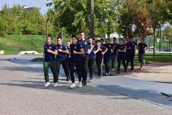 İtfaiye teşkilatı spor ve eğitimlerle formda kalıyor