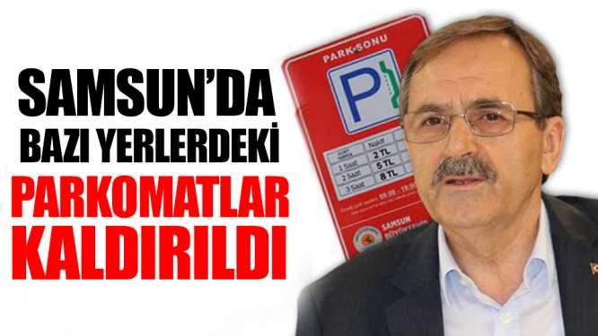 Samsun'da Parkomatlar Bazı Bölgelerden Kaldırıldı!