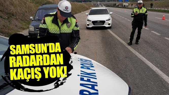 Samsun'da 1 Saatte 12 Araca Radar Cezası!