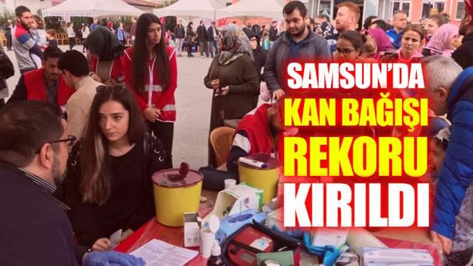 Samsun'daki O Okul Türki Kan Bağışı Rekoru Kırdı!