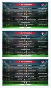 Süper Lig'de ikinci yarının ilk üç haftalık programı açıklandı