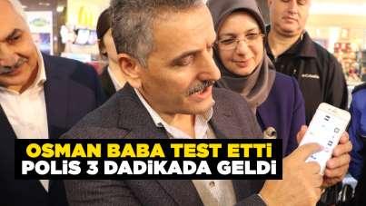 Samsun'da tanıtıldı! Osman Kaymak test etti, polis 3 dakikada geldi