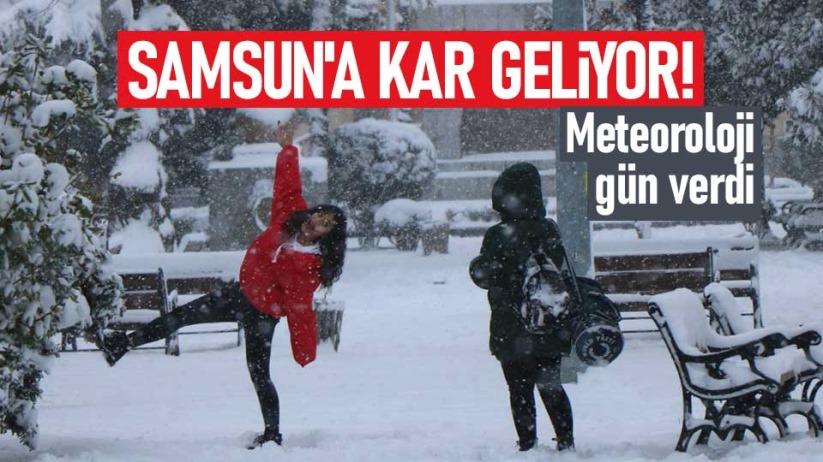 Samsun'a kar geliyor! Meteoroloji gün verdi