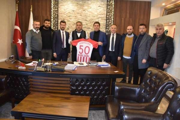 Nevşehir Belediyespor Başkan ve yöneticileri, Genel Sekreter Duru'yu ziyaret ett