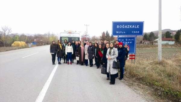 Sungurlu'da aday öğretmenler tarihi yerleri gezdi