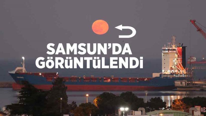 Samsun'da süper Ay görüntülendi