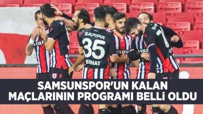Samsunspor'un Kalan Maçlarının Programı Belli Oldu