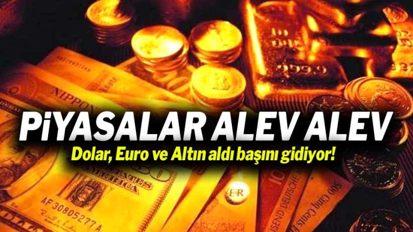 Dolar, Euro ve Altın aldı başını gidiyor!
