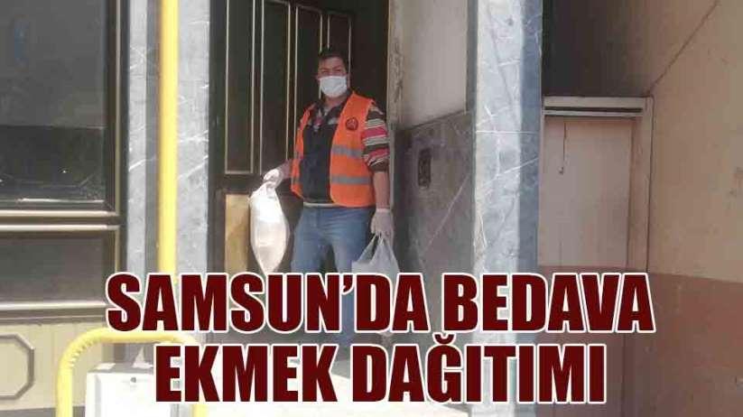 Samsun'da bedava ekmek dağıtımı