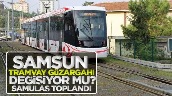 Samsun'da tramvay güzergahı değişiyor mu?