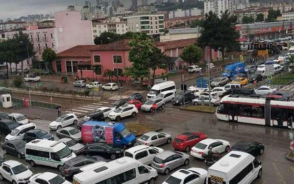 Samsun Atakum'da trafik çilesi