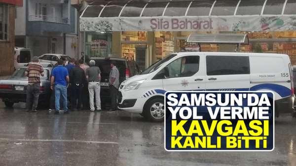 Samsun'da yol verme kavgası kanlı bitti