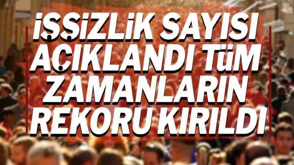 Türkiye'de ki işsizlik rakamları açıklandı Rakam dudak uçuklatıyor