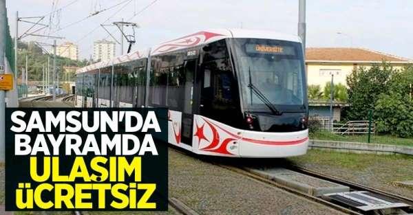 Samsun'da bayramda ulaşım ücretsiz