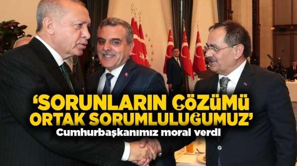 Başkan Mustafa Demir: 'Cumhurbaşkanımız moral verdi'