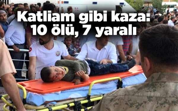 Katliam gibi kaza:10 ölü, 7 yaralı