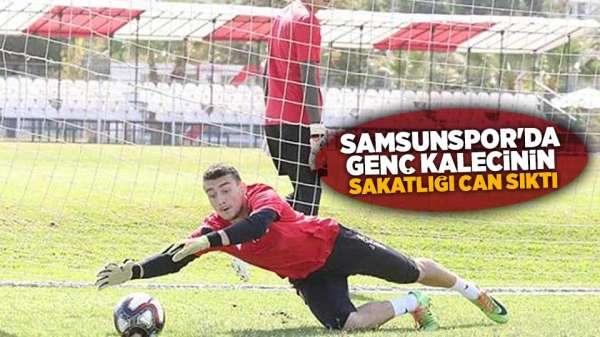 Samsunspor'da Genç kalecinin burnu kırıldı