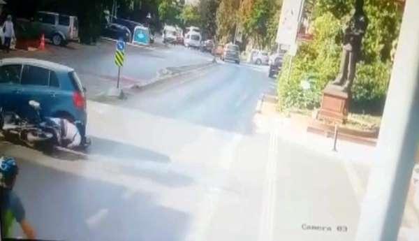 (Özel) Beşiktaş'ta yürekleri ağza getiren kaza kamerada