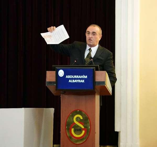 Abdurahim Albayrak: 'Galatasaray'ın borcu yönetilebilir duruma geldi'