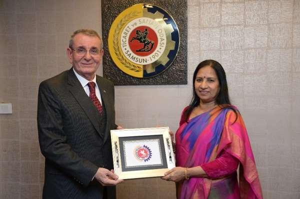 Hindistan Mashalatgüzarı, iş birliği için Samsun'da