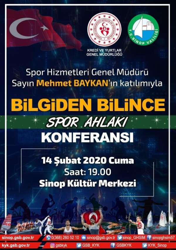 Sinop'ta 'Bilgiden Bilince Spor Ahlakı Konferansı' yapılacak