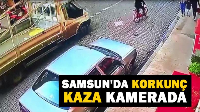 Samsunda korkunç kaza kamerada