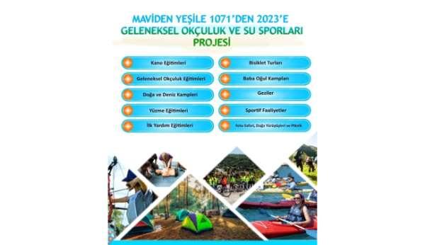 Ahlatta Maviden Yeşile 1071den 2023 e Geleneksel Okçuluk ve Su Sporları projesi